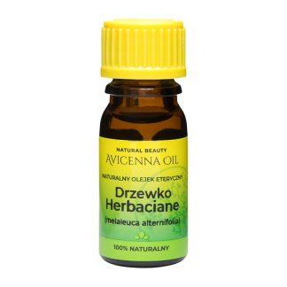 100% naturalny olejek eteryczny aromaterapia avicenna oil drzewko herbaciane tea tree antybakteryjny antygrzybiczny antywirusowy covid-19 cera tlusta tradzik regeneracja